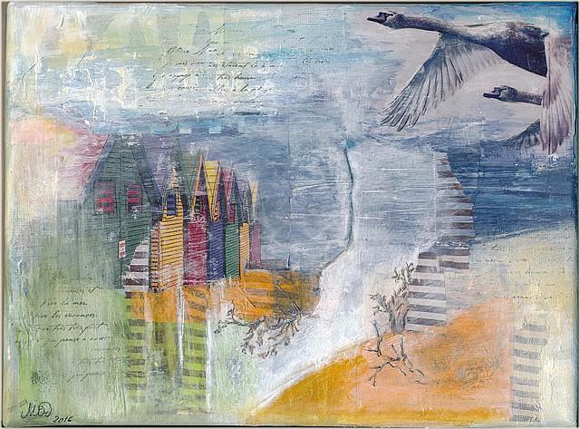 Rivages improbables-(canvas 24 x 18 cm) par Miryl