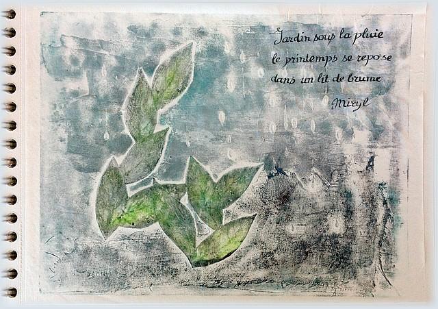 Haïku de printemps. texte et illustration par Miryl