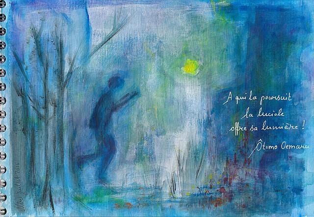 Illustration d'un haïku d'été, par Miryl