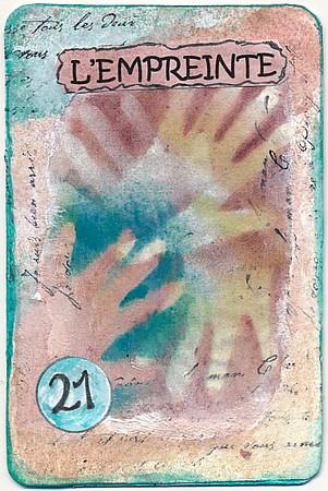 L'empreinte, carte altérée, par Miryl