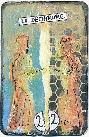 La déchirure, carte altérée, par Miryl