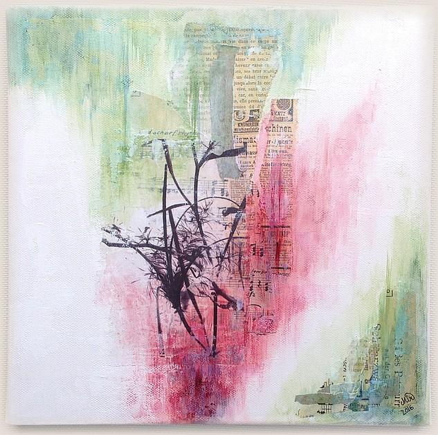 Graines 2 Canvas mixed media, 30 x 30 cm, par Miryl, 2016