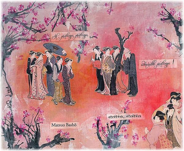 Haïkus en avril, mise en image d'un haïku de printemps, par Miryl
