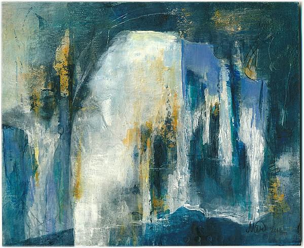 """""""Passages"""", tableau abstrait, peinture acrylique, fine art by Miryl"""