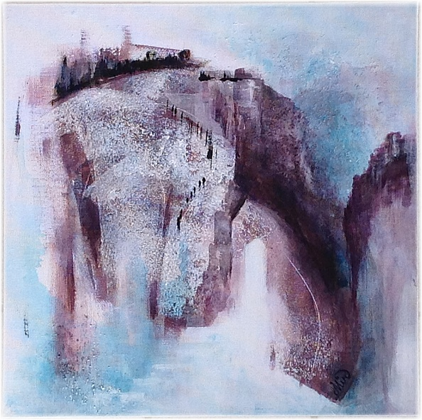 Paysage abstrait avec texture, abstract landscape, by Miryl
