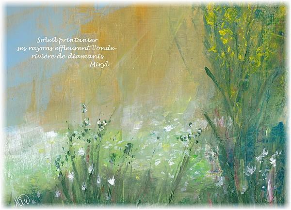 Haïkus, illustrations du mois de mai, texte et mise en image par Miryl