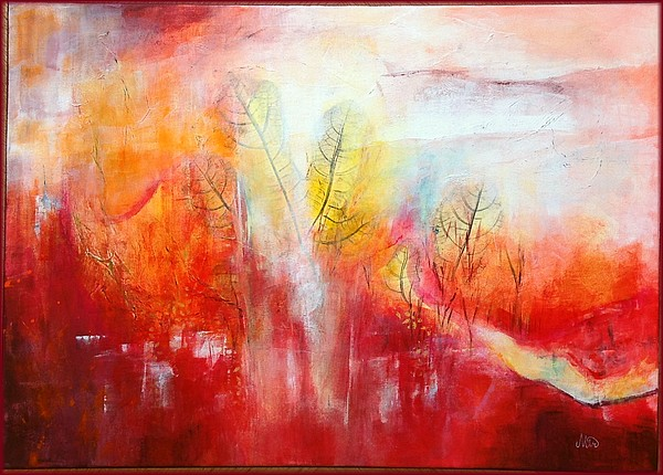 Paysage abstrait, sans titre, sur châssis 50 x 70 cm, par Miryl, 2018