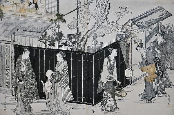 Histoire du haïku-Kubo Shunman: Départ nocturne pour un concours de poésie, vers 1787