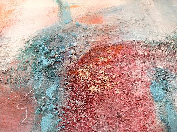 """""""Wie weiter?""""peinture abstraite, sur châssis, 60 x 50 cm, par Miryl, 2018, détail"""