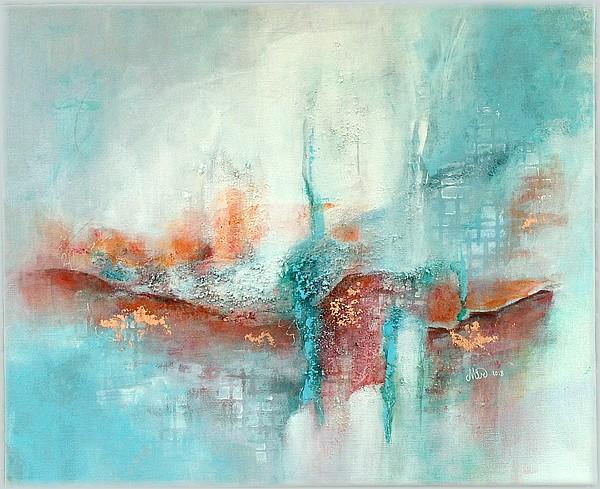 """""""Wie weiter?""""peinture abstraite, sur châssis, 60 x 50 cm, par Miryl, 2018"""