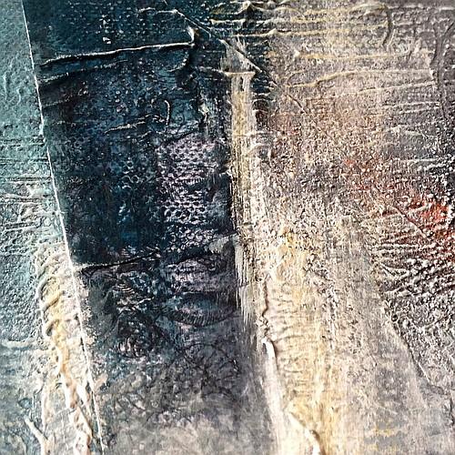 Solstice d'hiver, peinture abstraite, Miryl 2018, détail