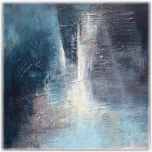 Solstice d'hiver, peinture abstraite, sur canvas, 30 x 30 cm, Miryl 2018