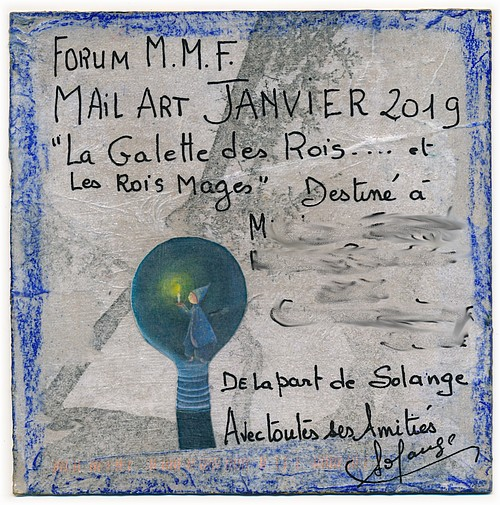 Mail art, par Solange 2019