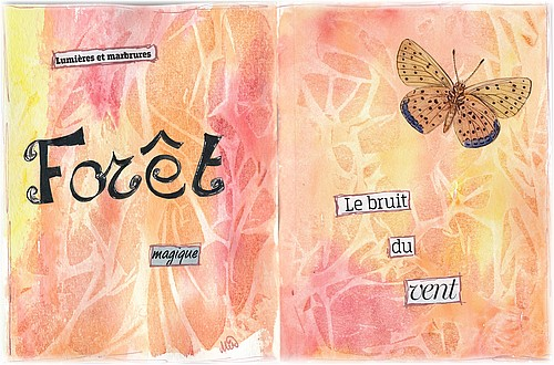 Art journal, mixed media par Miryl, 2019