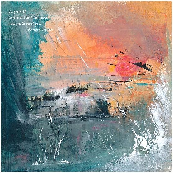 Brouillard pluie champignons et...haïkus, illustration peinture, Miryl, 2020